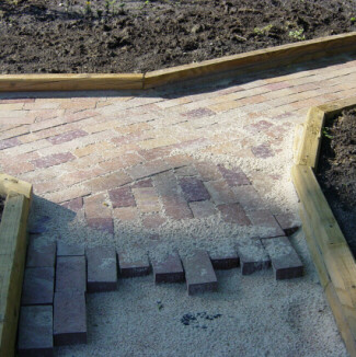 retaining wall for retreat