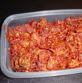 dehydrated tomatoes ready for any recipe