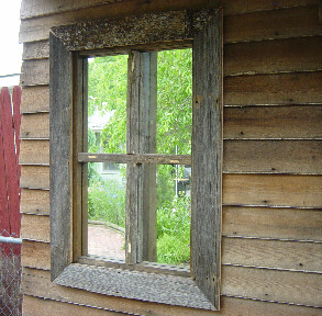 shed gets new faux windows